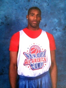 The Pangos All-American Camp was just one of many high school tournaments that Burton had competed in. (Photo courtesy of Burton family)