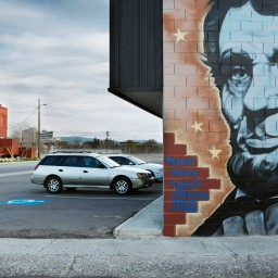 Just a few blocks from downtown in Reno, Nev. a topless bar is found behind a mural of President Abraham Lincoln.